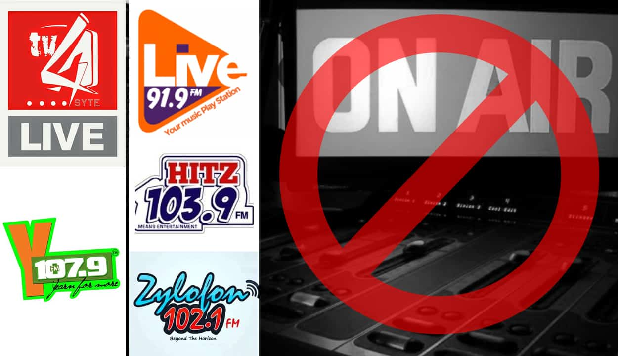 NO MUSIC DAY, HitzFm, 4syte TV, LiveFm, ZylofonFm, Zylofon Tv