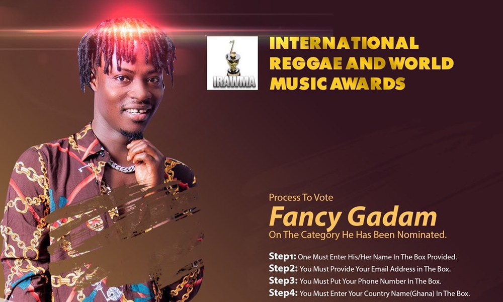 Fancy Gadam, International Reggae and world Music Awards